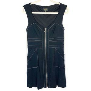 Laundry by Shelli Segal Black Zip Up Dress
